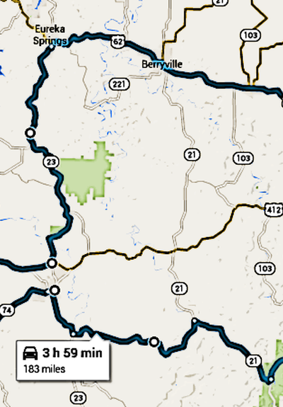 Triple B Backroads Route